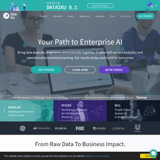Dataiku - Your Path to Enterprise AI