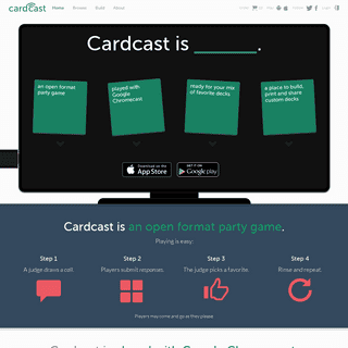 Cardcast - A Card-Matching Party Game