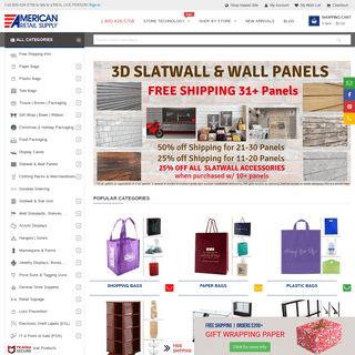 ArchiveBay.com - americanretailsupply.com - Retail Store Supplies - Shopping Bags, Displays - WHOLESALE