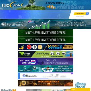 Onlinebitz.net - HYIP & Cloud Mining Reviews For Investors
