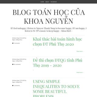 Blog Toán học của Khoa Nguyễn