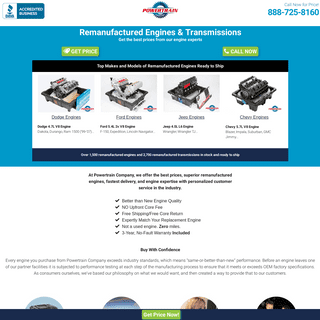 Remanufactured Engines and Transmissions - Powertrain Company