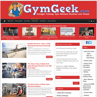 Gym Geek™ - Get Stronger With Our Help Site
