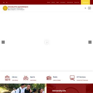 Homepage - University of Sri Jayewardenepura, Sri Lanka