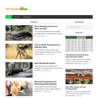 Hunting tips and unbiased gear reviews - MyHuntinGear.com