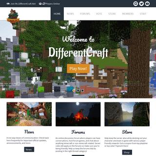 DifferentCraft - Minecraft Survival Server