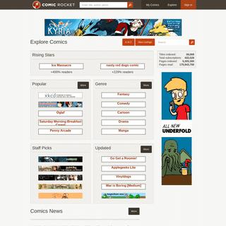 Explore - Comic Rocket webcomic list