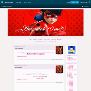 Animated20in20 — LiveJournal