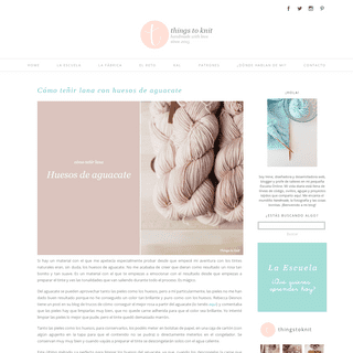 Things to Knit » Blog
