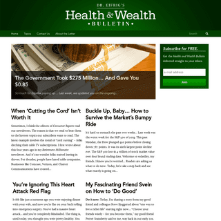 Health and Wealth Bulletin