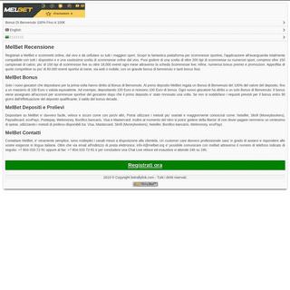 MelBet - Scommesse, Live, Bonus 100€ - MelBet Bookmaker