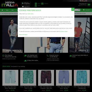 Moda Italia Trendy Online Fashion ✅ Italian clothing for men and women ✅ The largest collection of shirts and blouses of Eur