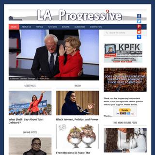 LA Progressive - Smart Content for Smart People
