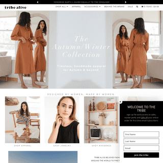 Sustainable Women's Clothing - Ethical Clothing - Eco Friendly Fashion - Tribe Alive