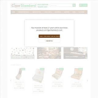 Best Online Cigar Store and Accessories - Cigar Standard