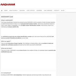 ArchiveBay.com - aadharcardsuid.com - AADHAAR Card UID Portal Website