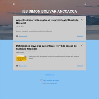 IES SIMON BOLIVAR ANCCACCA