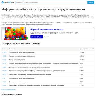 Информация о компаниях из ЕГРЮЛ и ЕГРИП