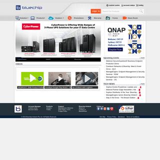 Bluechip Infotech home page