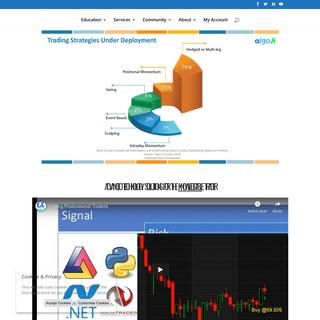 AlgoJi - Algo Trading Strategies, Software, Coding, Education and Technology
