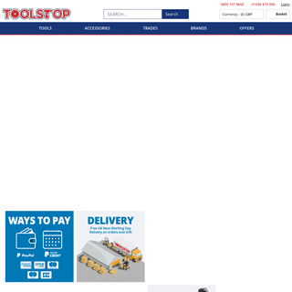 Toolstop Professional Power Tools and Hand Tool from Makita, DeWALT, Bosch, Hitachi, Metabo and more
