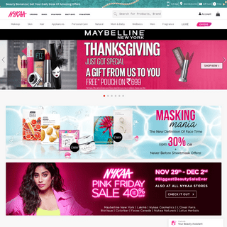 Buy Cosmetics Products & Beauty Products Online in India at Best Price - Nykaa
