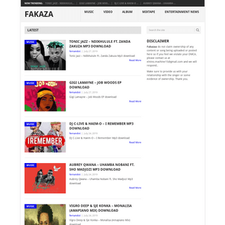 Fakaza- South African Music & Video Download - SA mp3 Music