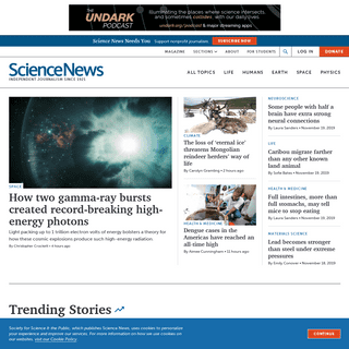 Science News - The latest news from all areas of science