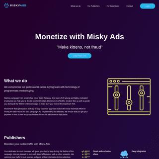 Misky Ads – Make kittens, not fraud
