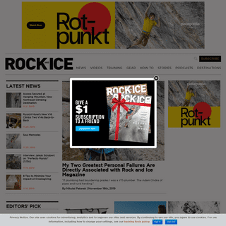 Rock and Ice Magazine - Climbing News, Videos, Gear Reviews, Training Tips and More