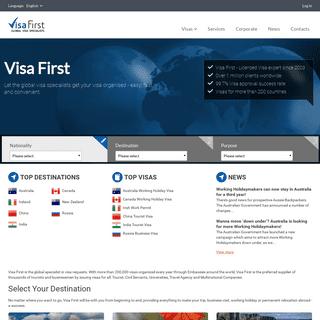 Visa First - Tourist & Business Visas, WHV, Work Permits