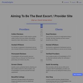 PrivateDelights - Find Escorts - Read Escort Reviews