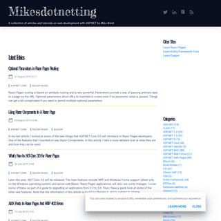 ASP.NET and Web Development tutorials and articles