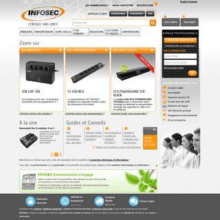 Infosec, Protection électrique et sécurité informatique - Infosec-ups.com