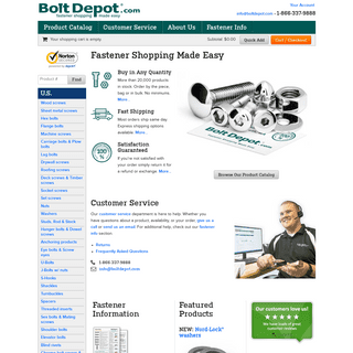 Bolt Depot - Nuts and Bolts, Screws and Fasteners online