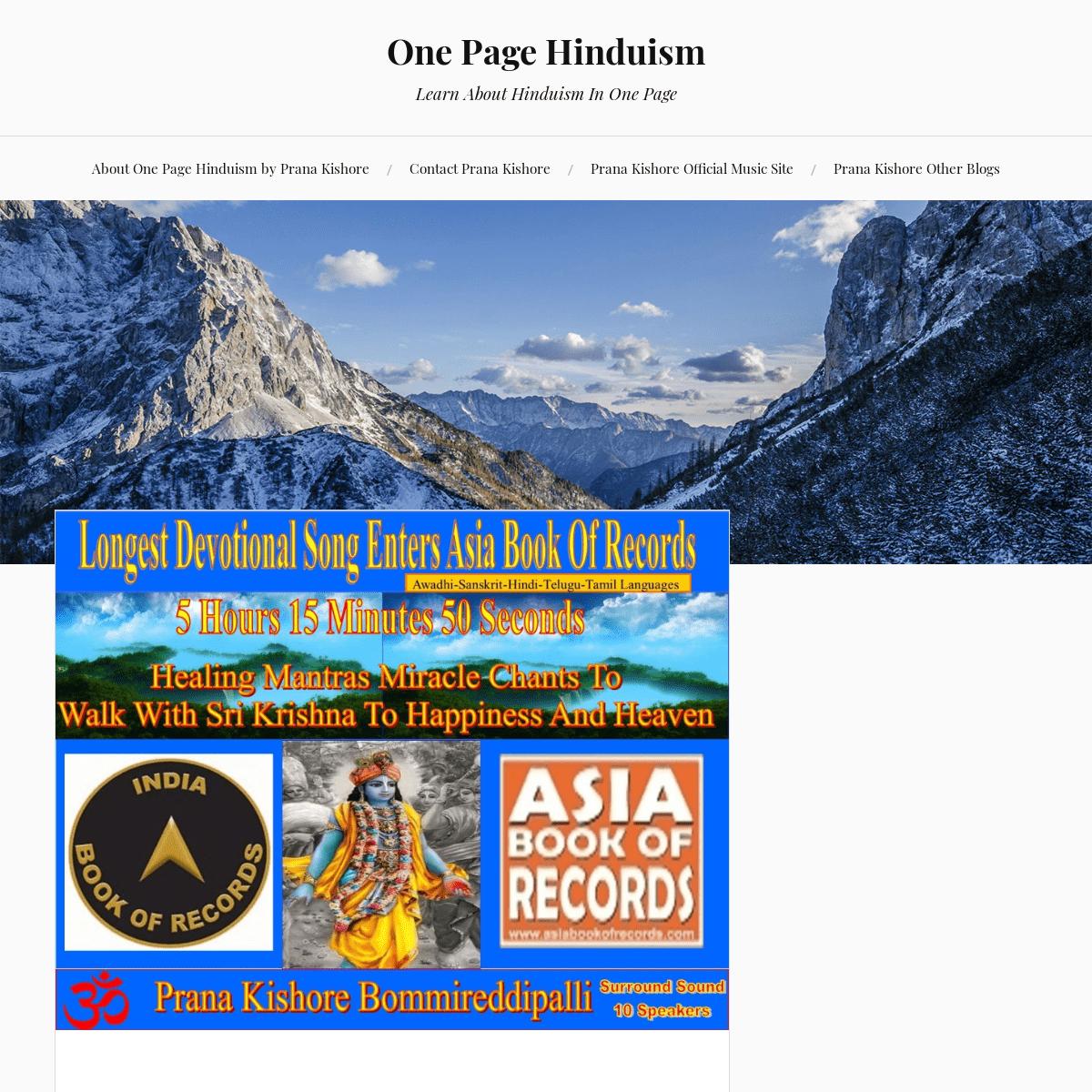 ArchiveBay com - Citation for: onepagehinduism wordpress com