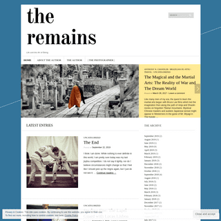 The Remains - Life and the Art of Being