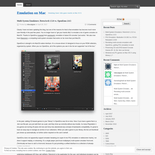 ArchiveBay.com - emulationonmac.wordpress.com - Emulation on Mac - Emulating classic video game consoles on Mac OS X