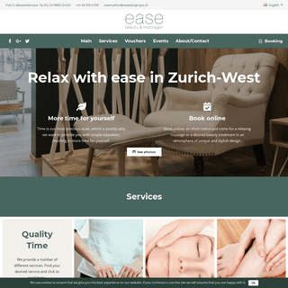 ☆ The urban spa for beauty and massage in Zürich ☆