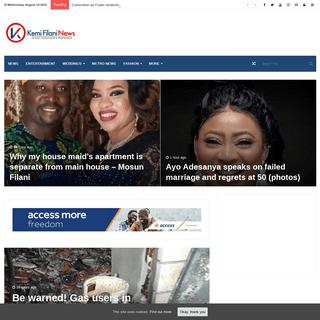 Latest Nigerian News Today, Nigerian Online Newspaper - Kemi Filani News