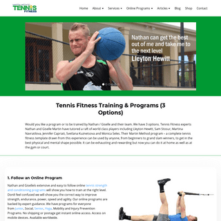Tennis Training & Conditioning - Workouts, Exercises and Courses