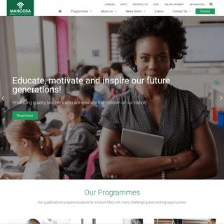 MANCOSA - Undergraduate and Postgraduate Education Provider