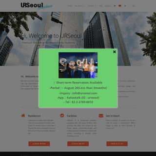 URSeoul – Premium Residence for International Students