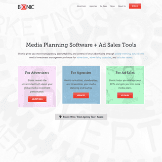 Bionic Advertising Systems - Media Planning Software + Ad Sales Tools