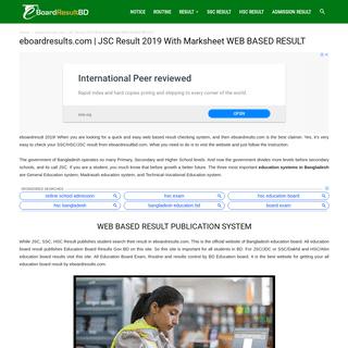 ArchiveBay.com - eboardresultbd.com - eboardresults.com - JSC Result 2019 With Marksheet Web Based Result