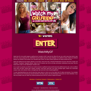 The world's hottest girlfriend porn only at WatchMyGF!