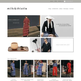 ArchiveBay.com - milkandthistle.com.au - Milk & Thistle - Australian fashion label and store - Milk & Thistle