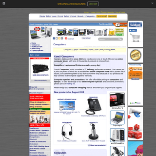 ArchiveBay.com - comx-computers.co.za - Computers! Online computer shop & notebook sales South Africa - Computers, laptops, notebooks and software sales. Computer sales