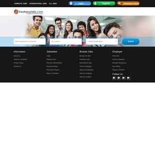 Freshersvista.com - A Jobsite for Freshers Hiring!