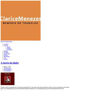 Clarice Menezes – Memória de trabalho